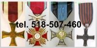 Kupię stare medale,odznaczenia,ordery, orzełki, dokumenty